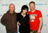 Vince Clarke, Joan Jett and Andy Bell at the launch party for MTV Network's LOGO Channel.