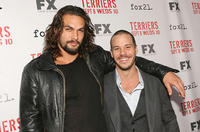 Jason Mamoa and Michael Raymond-James at the California premiere of