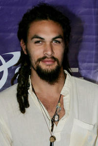 Jason Mamoa at the Sci-Fi Channel talent party in California.