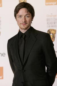 James McAvoy backstage in the Awards Room at The Orange British Academy Film Awards in London.