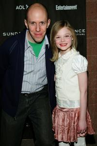 John August and Elle Fanning at the premiere of