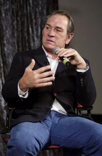 Tommy Lee Jones at the Question and Answer session at the Variety Screening Series of