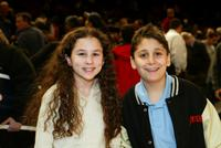 Hallie Eisenberg and Daniel Tay at the New York Knicks - New Orleans NBA game.