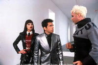 Milla Jovovich as Katinka, Ben Stiller as Derek and Will Ferrell as Mugatu in Paramount's Zoolander.