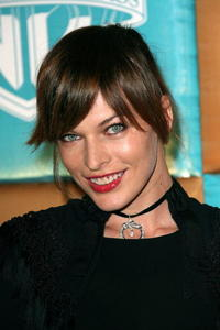 Milla Jovovich at a Golden Globe After Party.