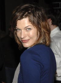 Milla Jovovich at a special dinner for