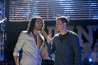 Russell Brand and writer/director/producer Nick Stoller on the set of