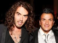Russell Brand and Peter Andre at the Black Ball UK in aid of