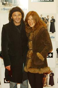 Fernando Tejero and Lola Munoz at the premiere of