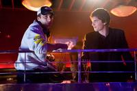 Director Robert Luketic and Jim Sturgess on the set of
