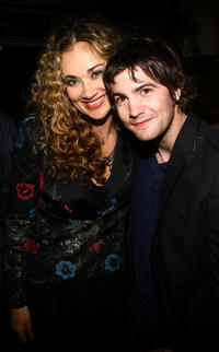Actors Dana Fuchs and Jim Sturgess at the after party of a N.Y. screening of