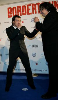 Antonio Banderas and Gregory Nava at the premiere of