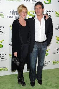 Melanie Griffith and Antonio Banderas at the New York premiere of
