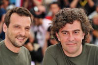 Mathieu Kassovitz and Director Jean-Stephane Sauvaire at the Palais des Festivals during the 61st International Cannes Film Festival.