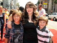 Jimmy Bennett, Kat Dennings and Jake Short at the premiere of