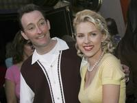 Tom Kenny and Scarlett Johansson at the premiere of