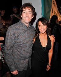 Tom Kenny and Cheri Oteri at the Fox TV's Winter All-Star Party.