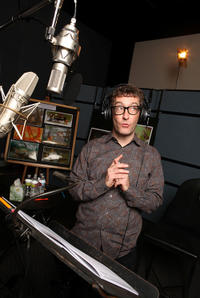 Tom Kenny on the set of