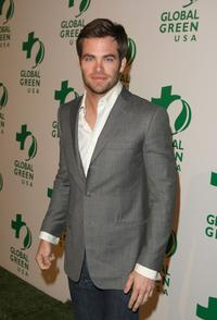 Chris Pine at the Global Green USA's 6th Annual Pre-Oscar Party.