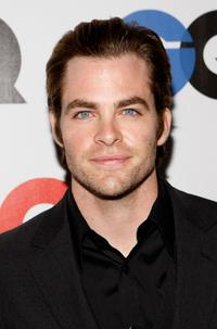 Chris Pine at the GQ Men of the Year party.