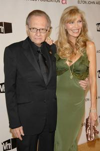 Larry King and Shawn Southwick at the 16th Annual Elton John AIDS Foundation Academy Awards viewing party.