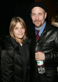 Terry Kinney and Kathryn Erbe at the after party for the opening night of