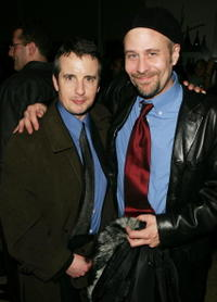 Terry Kinney and Grant Shaud at the after party for the opening night of