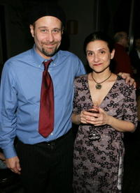 Terry Kinney and Gina Gionfriddo at the after party for the opening night of
