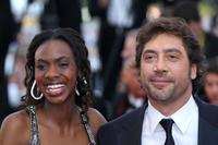Diaryatou Daff and Javier Bardem at the 63rd Annual Cannes Film Festival.
