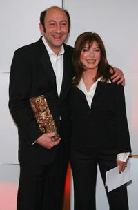 Kad Merad and Guest at the 32nd Cesars Film Awards Ceremony.