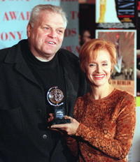 Swoosie Kurtz and Brian Dennehy at the news conference in New York.