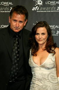 Anthony LaPaglia and his wife Gia Carides at the L'Oreal Paris 2007 AFI Industry Awards.