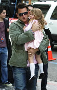 Anthony LaPaglia and his daughter at the premiere of