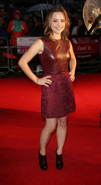 Zoe Tapper at the premiere of