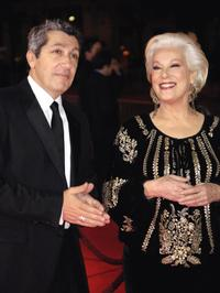 Bernadette Lafont and Alain Chaba at the 32nd Nuit des Cesars french film awards ceremony.