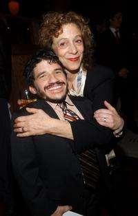 Mark Povinelli and Martha Clarke at the after party of