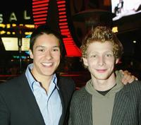 Oliver James and Johnny Lewis at the after party of the premiere of
