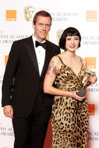 Hugh Laurie and Diablo Cody at the FOX All-Star Party.