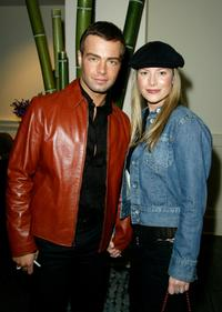 Joey Lawrence and wife Michelle Vella Lawrence at the WB Television Network Upfront All-Star Party.