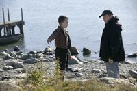 Alex Etel and director Jay Russell on the set of