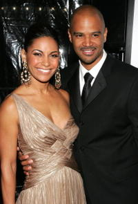 Salli Richardson and actor Dondre Whitfield at the N.Y. premiere of