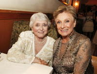 Celeste Holm and Cloris Leachman at the after party of the premiere of