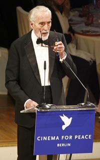 Christopher Lee at the 57th Berlinale International Film Festival.