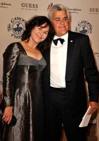 Mavis Nicholson and Jay Leno at the 30th anniversary Carousel of Hope Ball to benefit the Barbara Davis center for childhood diabetes.