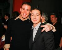 Channing Tatum and Shia LaBeouf at the premiere of