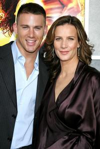 Channing Tatum and Rachel Griffiths at the premiere of