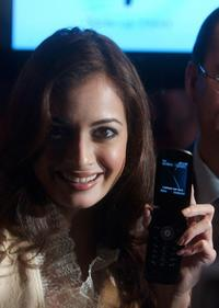 Diya Mirza at the product launch of Samsung Mobile.