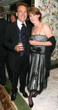 Robert Lindsay and his wife at the joint 75th birthday party for the Dorchester Hotel and British wildlife artist David Shepherd.