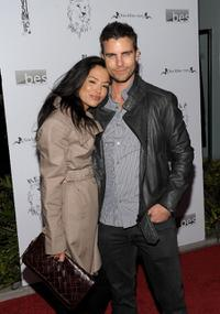 Stephanie Jacobsen and Colin Egglesfield at the Lisa Kline Boutique Launch party.
