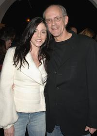 Jane Walker Wood and Christopher Lloyd at the SBIFF Modern Master Award honoring George Clooney.